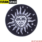 SPACE PATCH - Space Skull - Peacock Blue - 100005735