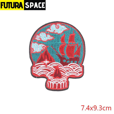 SPACE PATCH - Space Skull - Antique Copper - 100005735
