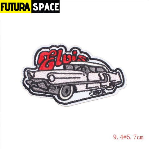 SPACE PATCH - Space Skull - Nickel-Free White - 100005735