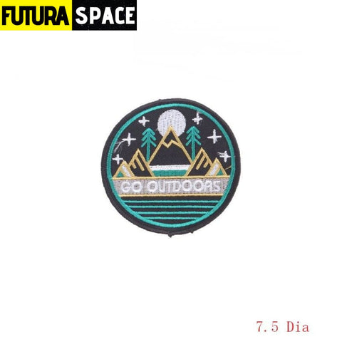 SPACE PATCH - Space Skull - Dark Khaki - 100005735