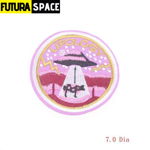 SPACE PATCH - Space Skull - Brown - 100005735