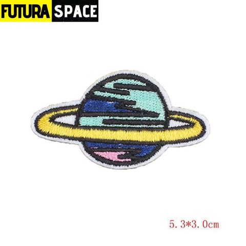 SPACE PATCH - Space Skull - White - 100005735