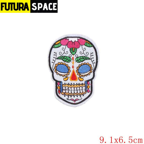 SPACE PATCH - Space Skull - Antique Zinc - 100005735