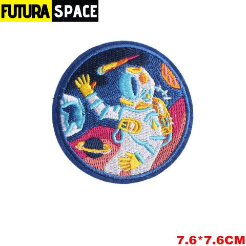 SPACE PATCH - Space Skull - Nickel - 100005735