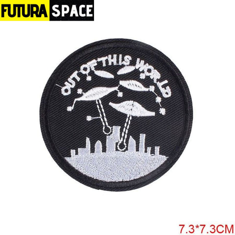 SPACE PATCH - Space Skull - Lemon yellow - 100005735