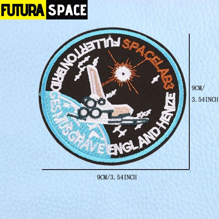 SPACE PATCH - UFO Astronaut - Brass - 100005735