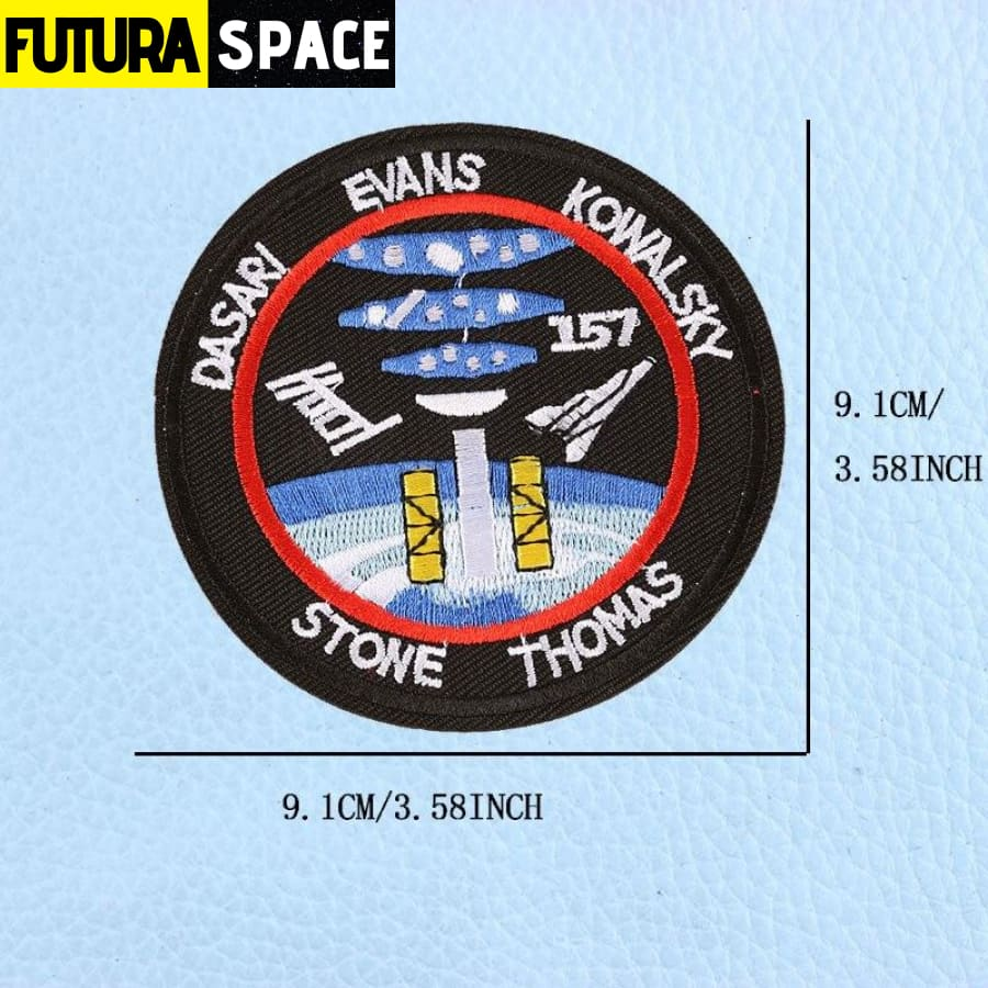 SPACE PATCH - UFO Astronaut - Gold - 100005735