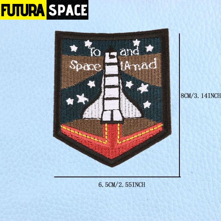 SPACE PATCH - UFO Astronaut - Laser Bright - 100005735