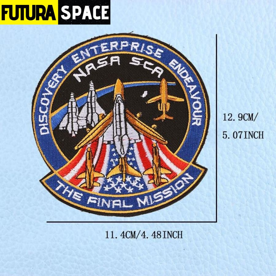 SPACE PATCH - UFO Astronaut - Antique Brass - 100005735