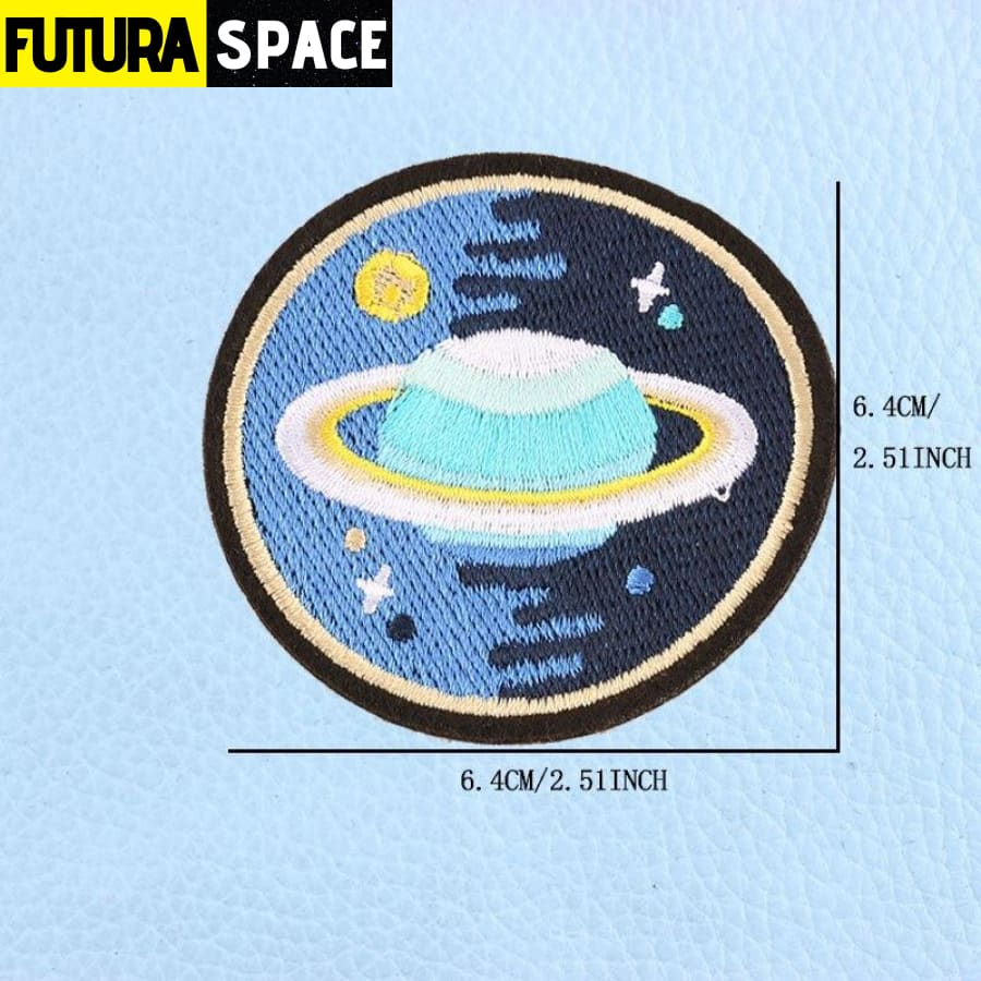 SPACE PATCH - UFO Astronaut - Yellow - 100005735