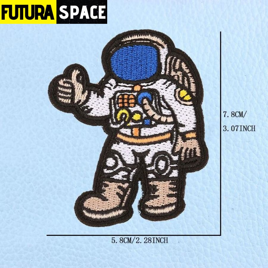 SPACE PATCH - UFO Astronaut - White - 100005735