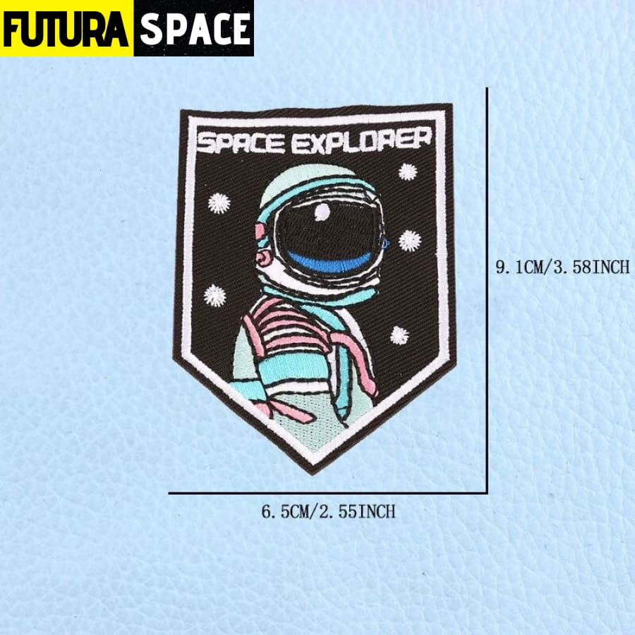 SPACE PATCH - UFO Astronaut - Blue - 100005735