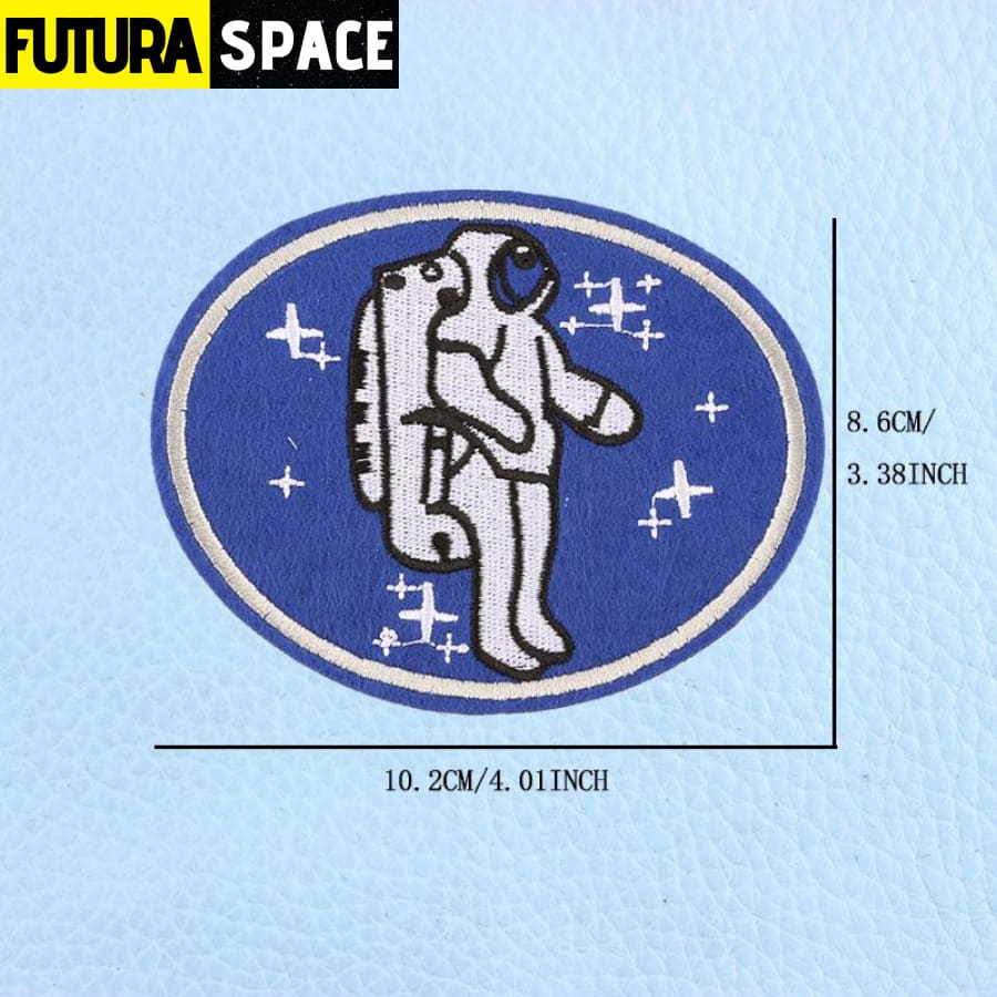 SPACE PATCH - UFO Astronaut - Dull - 100005735