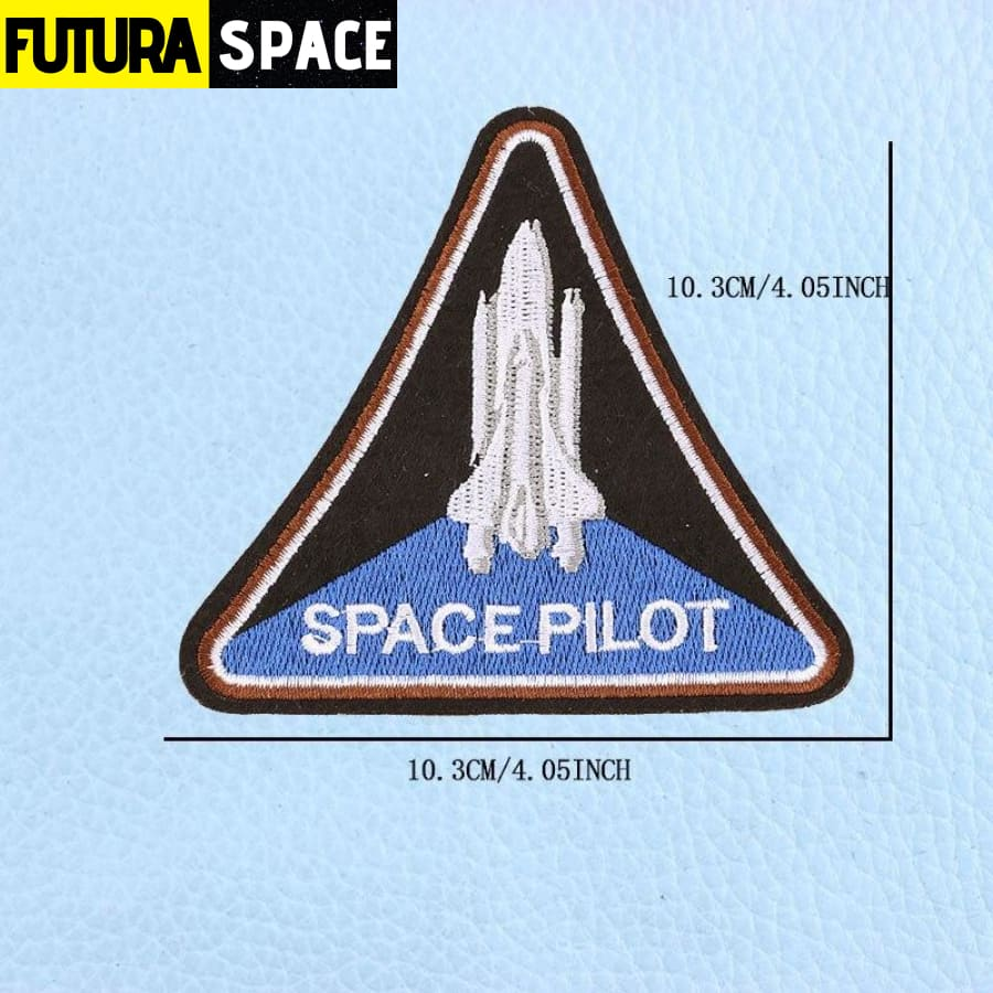 SPACE PATCH - UFO Astronaut - Antique Copper - 100005735