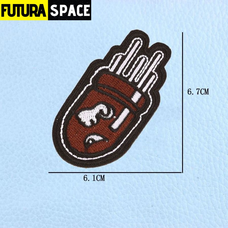 SPACE PATCH - UFO Astronaut - Black Nickel - 100005735