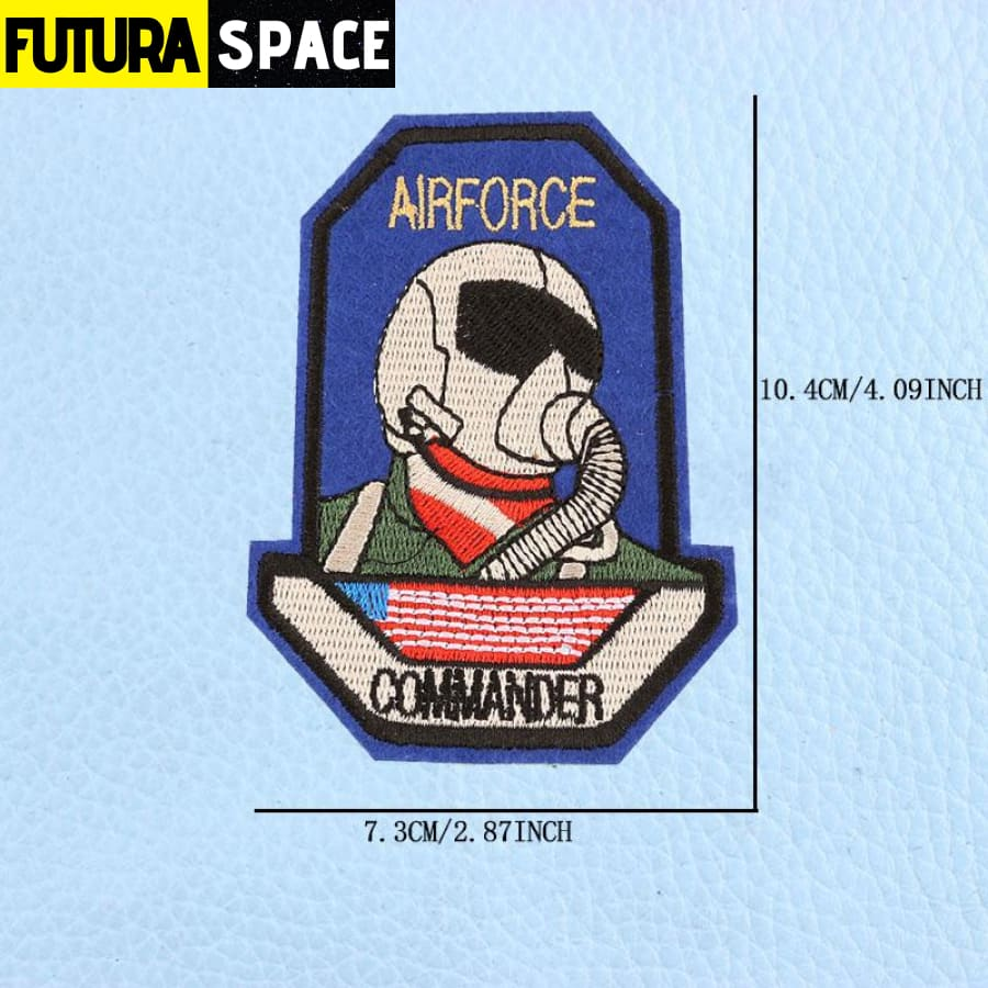 SPACE PATCH - UFO Astronaut - Silver - 100005735