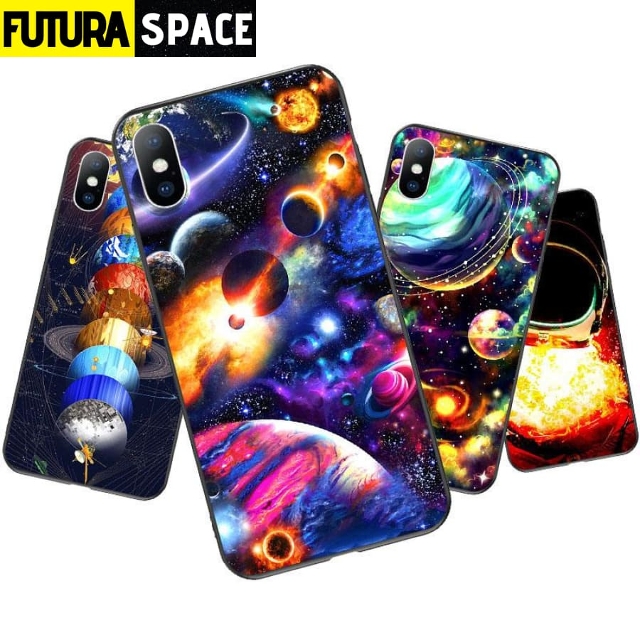 SPACE PHONE CASE - Moon Star (iPhone)