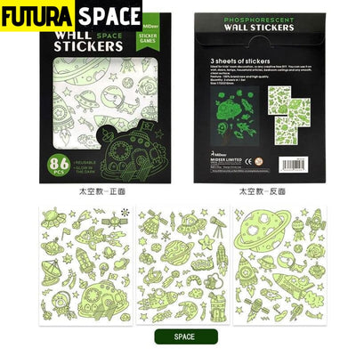Space Phosphorescent Wall Stickers - space theme - 200003295
