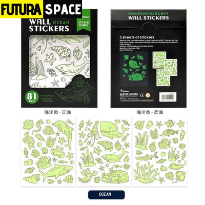 Space Phosphorescent Wall Stickers - 200003295