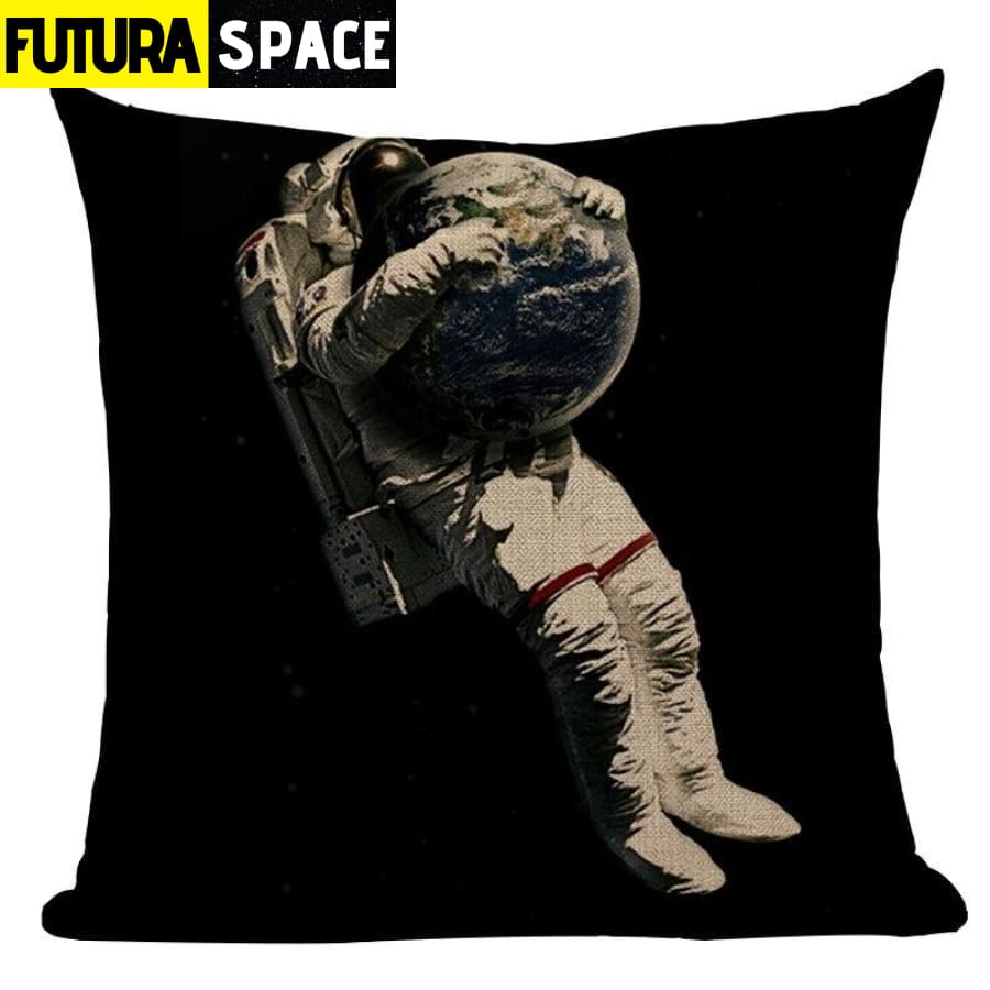 SPACE PILLOW - Astronaut Printed - 450mm*450mm / Color 10 -