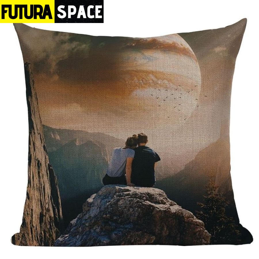 SPACE PILLOW - Astronaut Printed - 450mm*450mm / Color 07 -