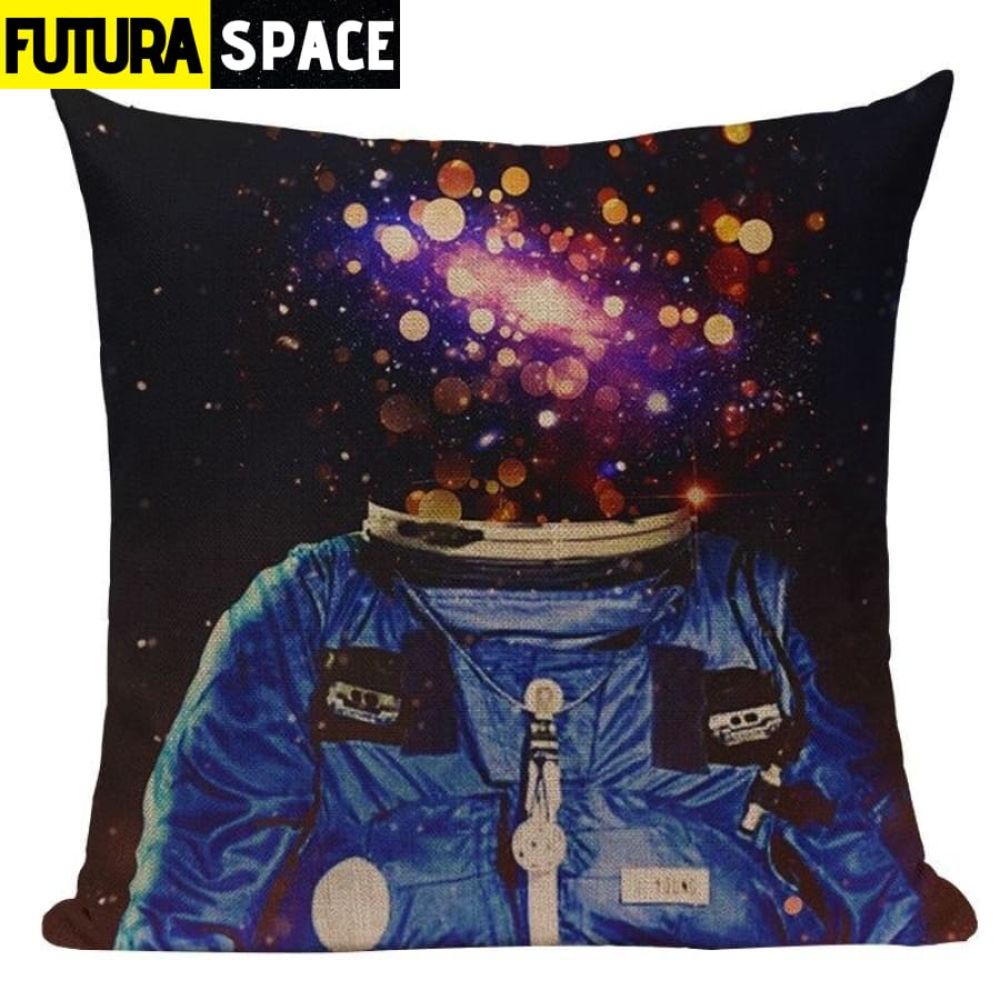 SPACE PILLOW - Astronaut Printed - 450mm*450mm / Color 01 -