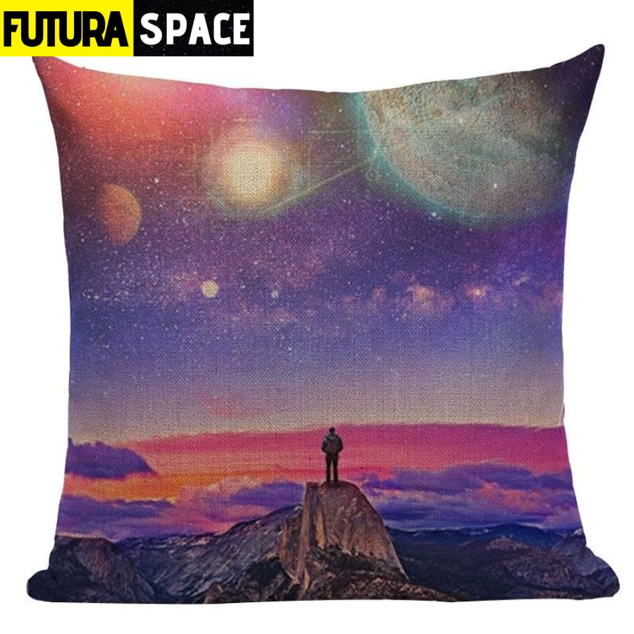 SPACE PILLOW - Astronaut Printed - 450mm*450mm / Color 08 -