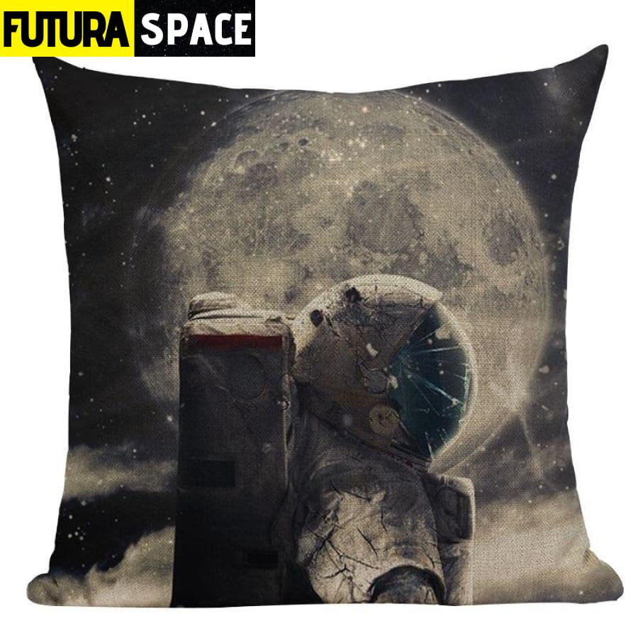 SPACE PILLOW - Astronaut Printed - 450mm*450mm / Color 09 -
