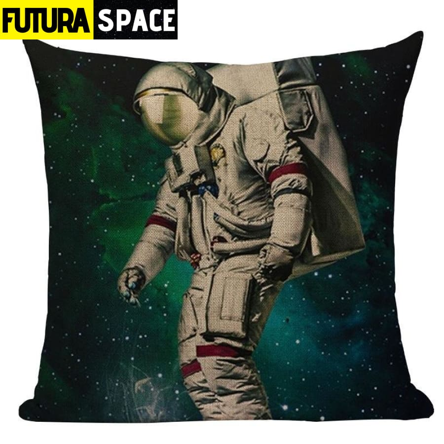 SPACE PILLOW - Astronaut Printed - 450mm*450mm / Color 02 -
