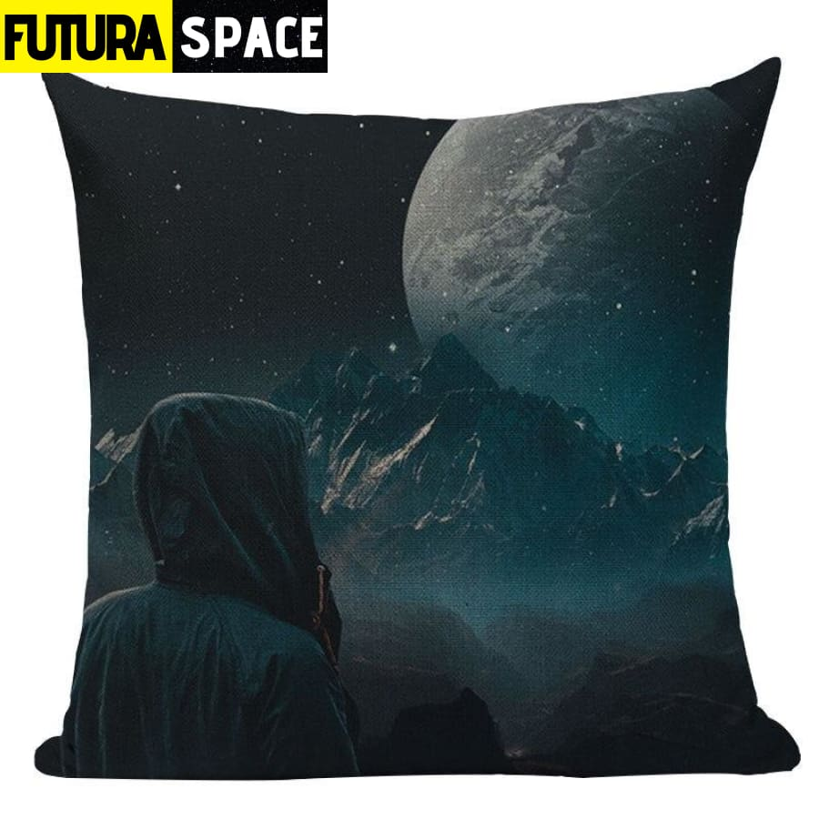 SPACE PILLOW - Astronaut Printed - 450mm*450mm / Color 05 -