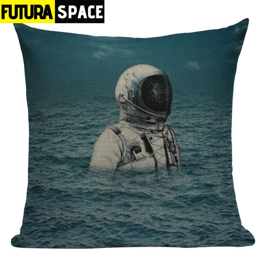 SPACE PILLOW - Astronaut Printed - 450mm*450mm / Color 06 -