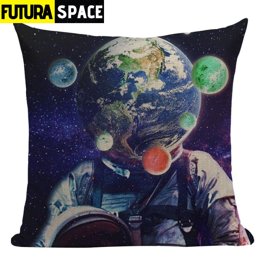 SPACE PILLOW - Astronaut Printed - 450mm*450mm / Color 14 -