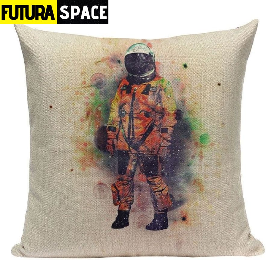 SPACE PILLOW - Astronaut Printed - 450mm*450mm / Color 12 -