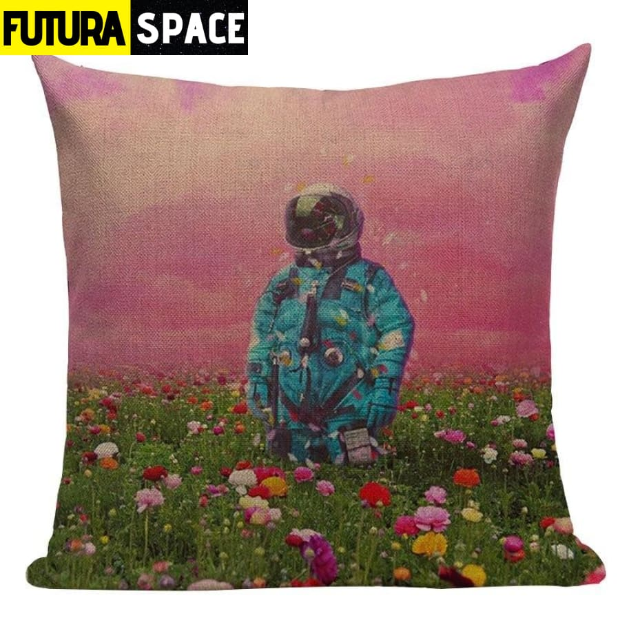 SPACE PILLOW - Astronaut Printed - 450mm*450mm / Color 11 -