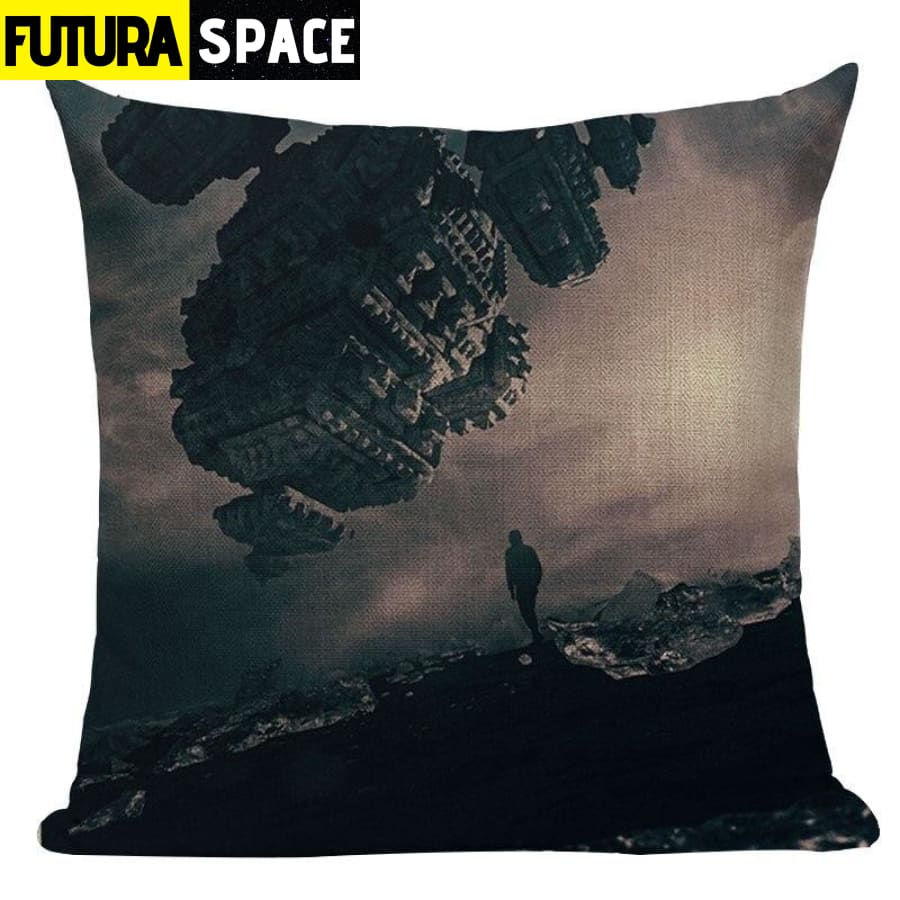 SPACE PILLOW - Astronaut Printed - 450mm*450mm / Color 03 -