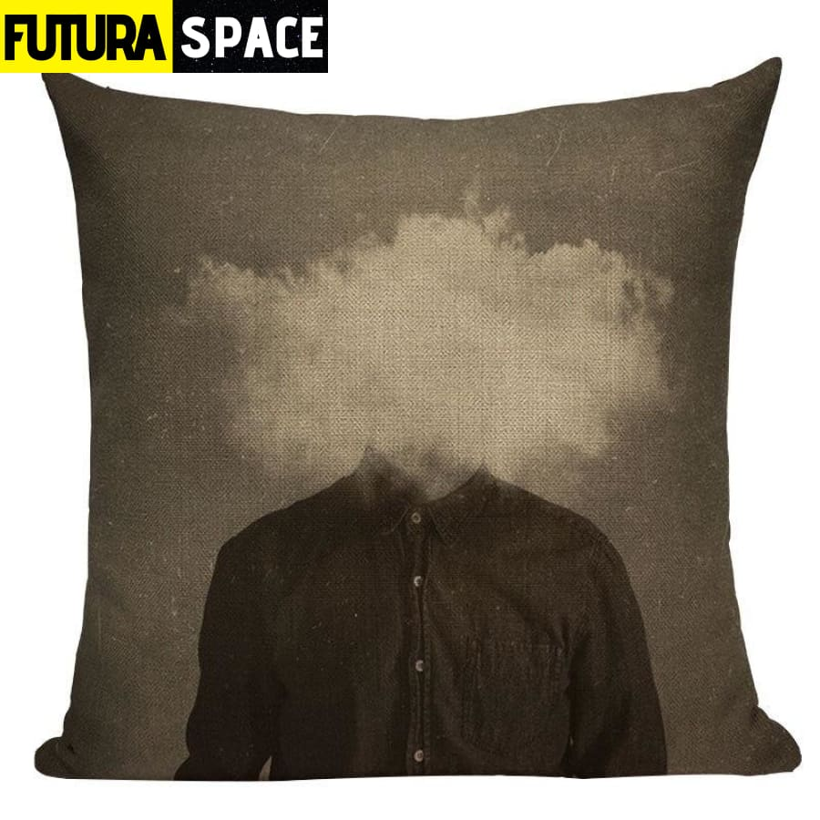 SPACE PILLOW - Astronaut Printed - 450mm*450mm / Color 15 -