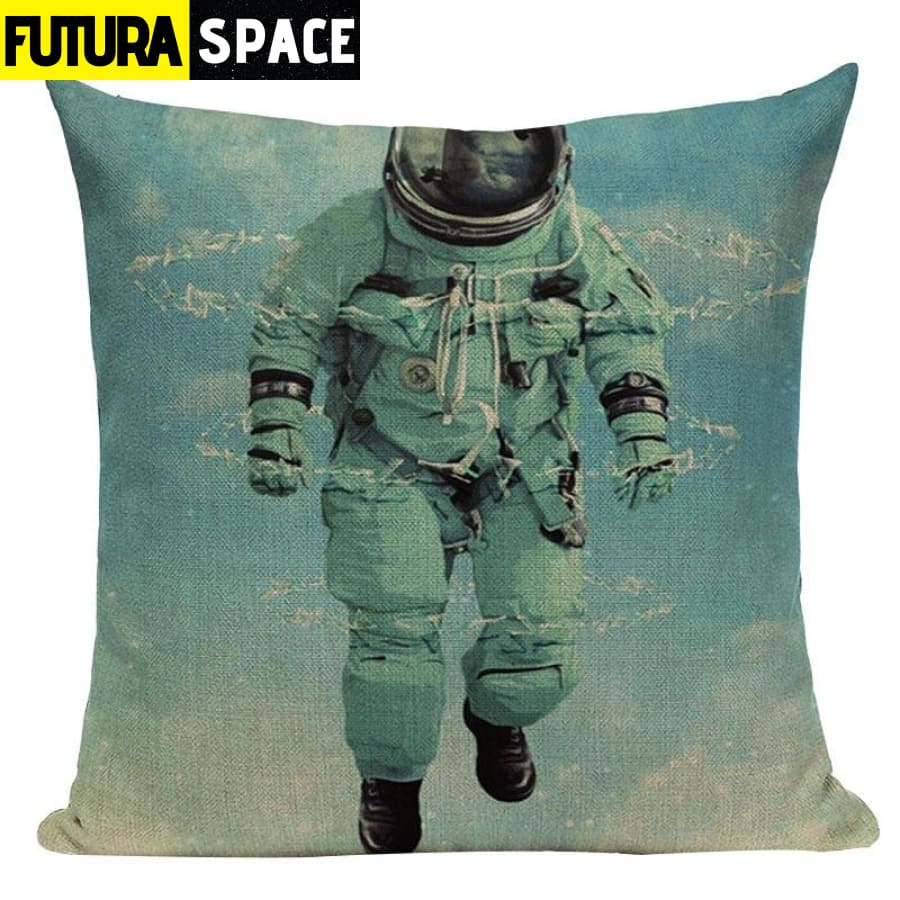SPACE PILLOW - Astronaut Printed - 450mm*450mm / Color 04 -
