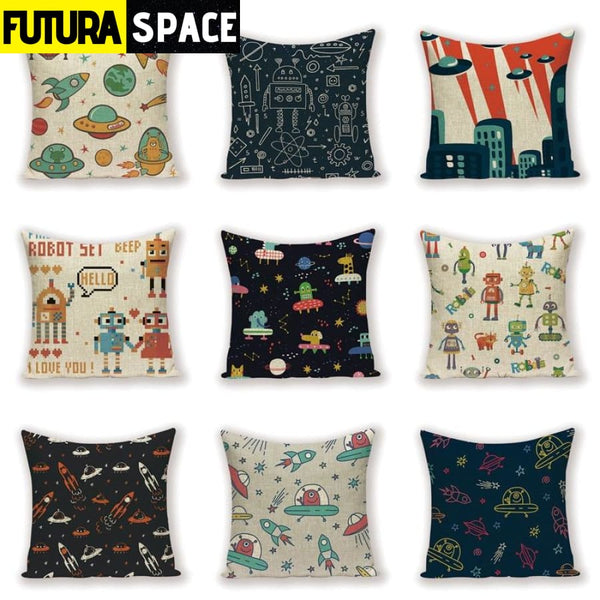 SPACE PILLOW - Cartoon Robot - 40507
