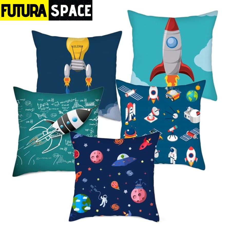 SPACE PILLOW - Cartoon Spacecraft