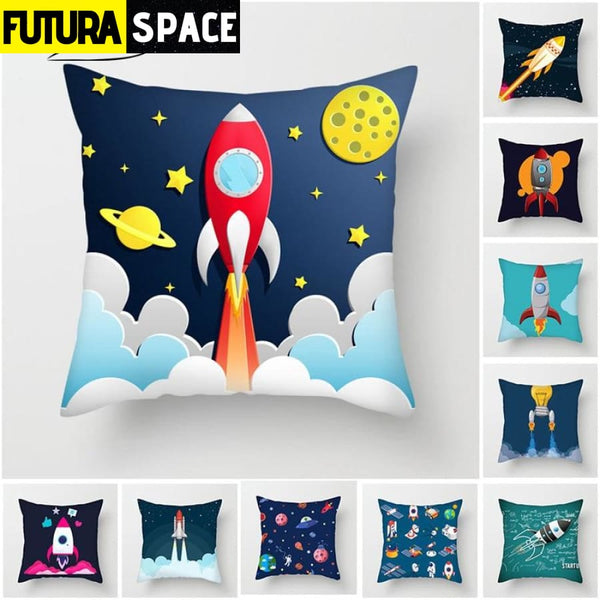 SPACE PILLOW - Cartoon Spacecraft - 40507