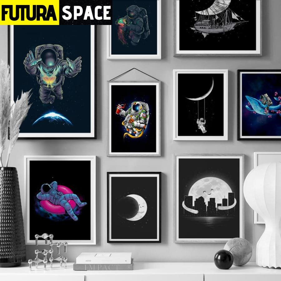 SPACE POSTER - Abstract Astronaut - 1704