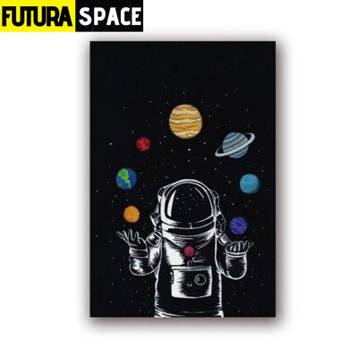 SPACE POSTER - Astronaut Boy Wall Art - 13x18 cm No Frame /