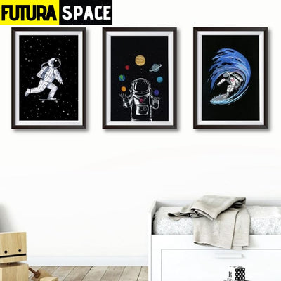 SPACE POSTER - Astronaut Boy Wall Art - 1704