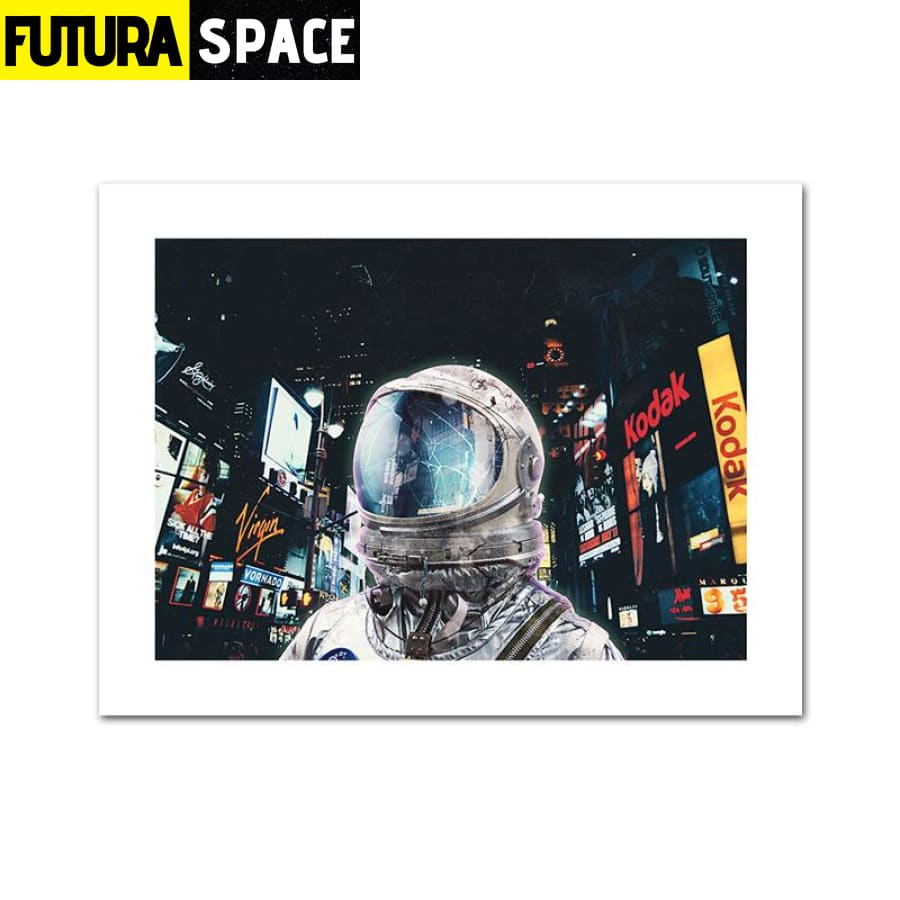 SPACE POSTER - Astronaut Moon - 10x15cm Unframed / Picture 3