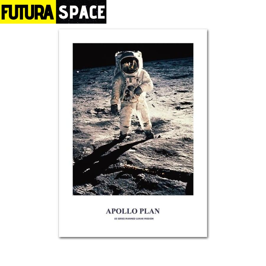 SPACE POSTER - Astronaut Moon - 10x15cm Unframed / Picture 2