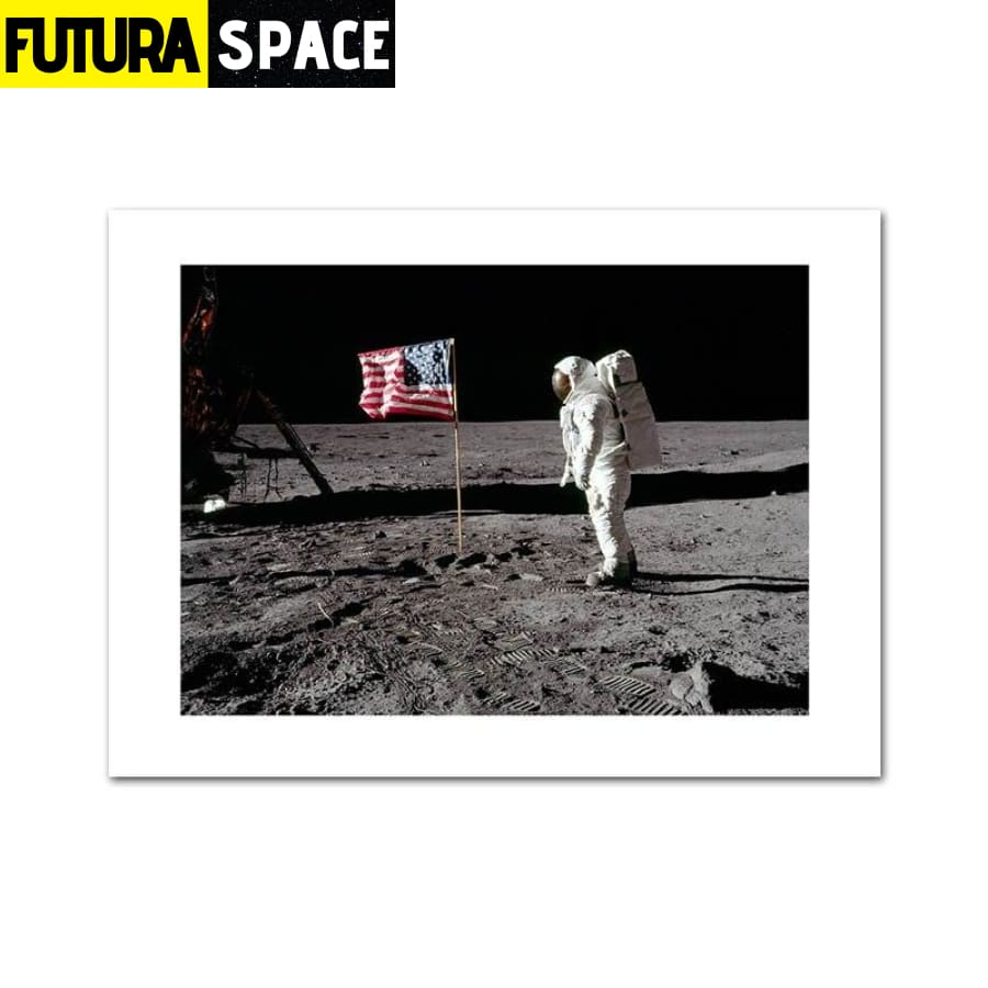 SPACE POSTER - Astronaut Moon - 10x15cm Unframed / Picture 1