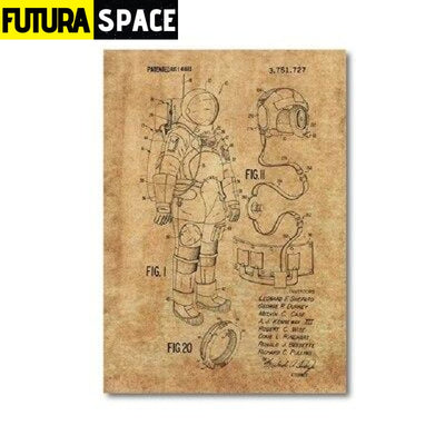 SPACE POSTER - Astronaut Space Suit - 13x18 cm No Frame /