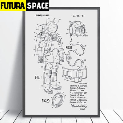 SPACE POSTER - Astronaut Space Suit - 1704