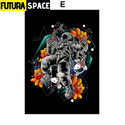 SPACE POSTER - Astronaut Spaceman - 13X18 cm No Framed / E -