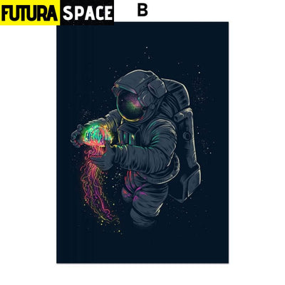 SPACE POSTER - Astronaut Spaceman - 13X18 cm No Framed / B -